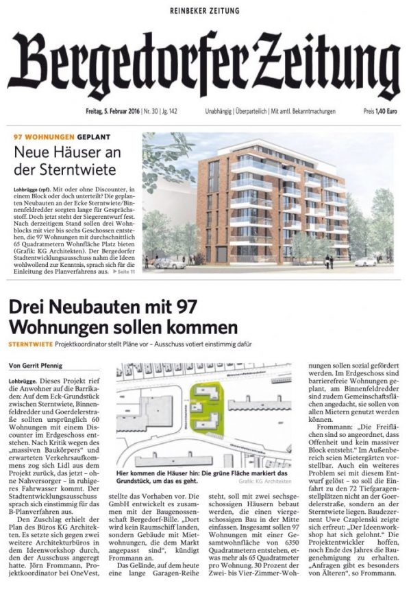 Lokale Tageszeitung: Bergedorfer Zeitung