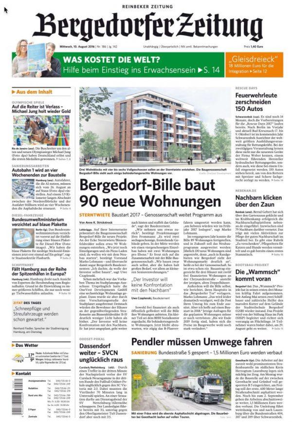 Daily newspaper: Bergedorfer Zeitung