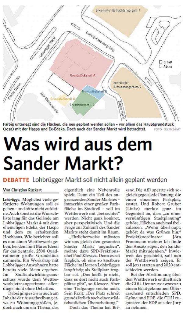 "Article in the local newspaper ""Bergedorfer Zeitung"" from November 2019."