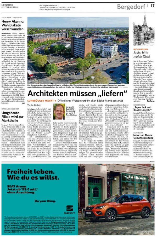 """Local newspaper: """"Lohbrügger Zeitung"""""""