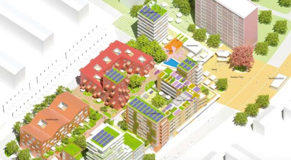 Berliner Platz, successful architectural competition for the construction of 200 apartments on the almost 12,400 square meter site.